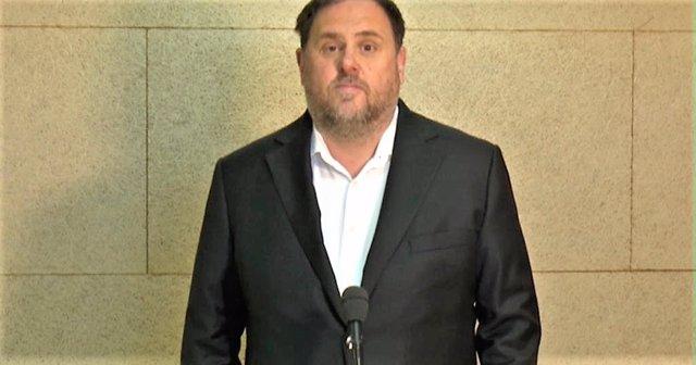 26M.- La Junta Electoral Central rechaza que Junqueras pueda participar desde pr