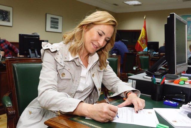"""Beltrán presenta su credencial como diputada para """"llevar al Congreso la voz constitucionalista de Navarra"""""""
