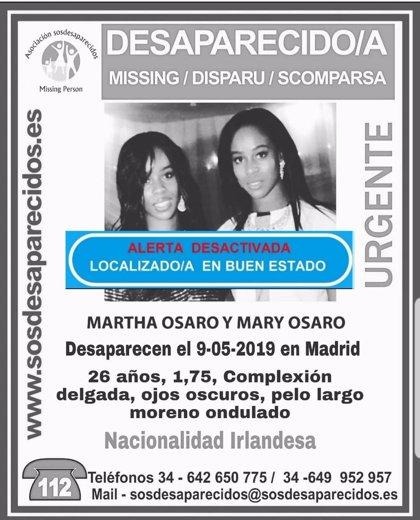 Localizada en buen estado la segunda gemela desaparecida el miércoles en La Latina