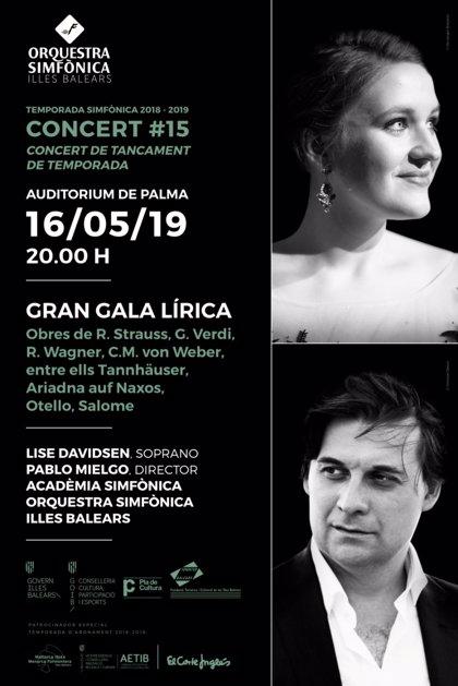 La Simfònica comptarà en l'últim concert de la temporada amb la soprano Lise Davidse
