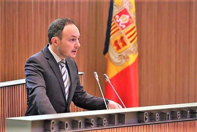 Espot (DA) propone a la oposición de Andorra pactos de Estado sobre pensiones, UE y sanidad