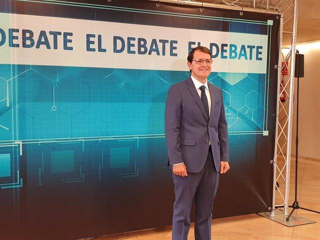 """Debate CyL.- Mañueco pide confianza para el PP para mantener el crecimiento frente a """"incertidumbres"""" del PSOE"""