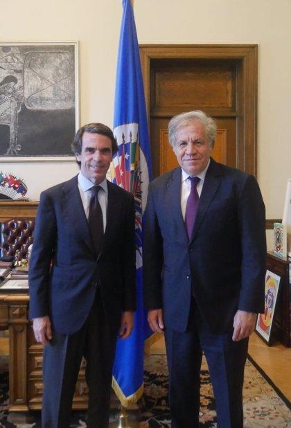 """Aznar se reúne con Almagro para hablar del """"agravamiento"""" de la crisis venezolana y abordar la coyuntura de la región"""