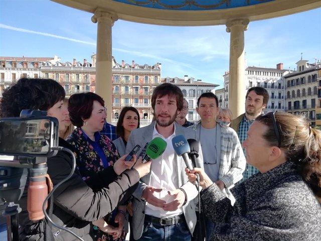 """26M.- Buil Dice Que """"Solo Si Hay Un Podemos Fuerte En Navarra Se Podrá Seguir Garantizando Un Cambio Y Un Avance Social"""""""