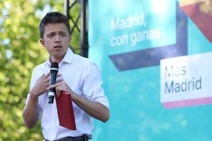 """Errejón """"acaricia la posibilidad de un gobierno decente en Comunidad"""" y llama a la movilización del Madrid humilde"""