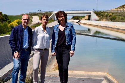 """Chivite expresa su """"compromiso"""" con la segunda fase del Canal de Navarra"""