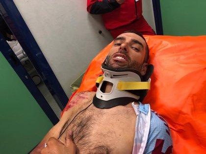 Dani Navarro se fractura la clavícula y tres costillas en el Giro