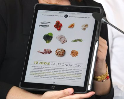 Diputación presenta la primera publicación interactiva dedicada a la gastronomía y al sector agroalimentario de Málaga