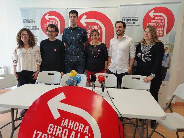 """26M.- Alberto Garzón Apuesta Por """"Reproducir El Cambio En Navarra"""" Y Está """"Cómodo"""" Con El Acuerdo Con Los Nacionalistas"""