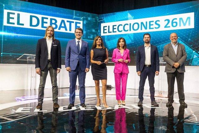 Debate CyL.- Un total de 228.000 espectadores siguieron el debate entre los candidatos a la Junta de CyL