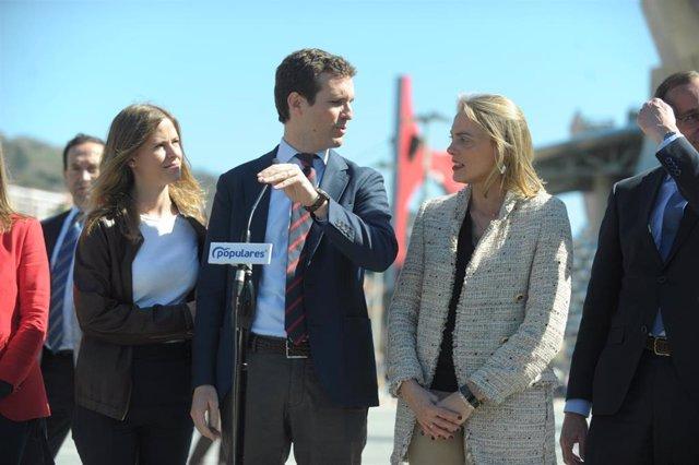 El presidente del Partido Popular, Pablo Casado, visita Bilbao