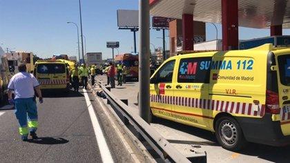 Dos accidentes en Getafe provocan la muerte de un motorista y deja otros tres heridos más, uno de ellos grave