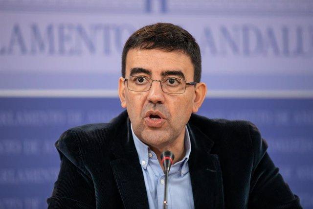 Rueda de prensa de Mario Jiménez en el Parlamento andaluz, este miércoles