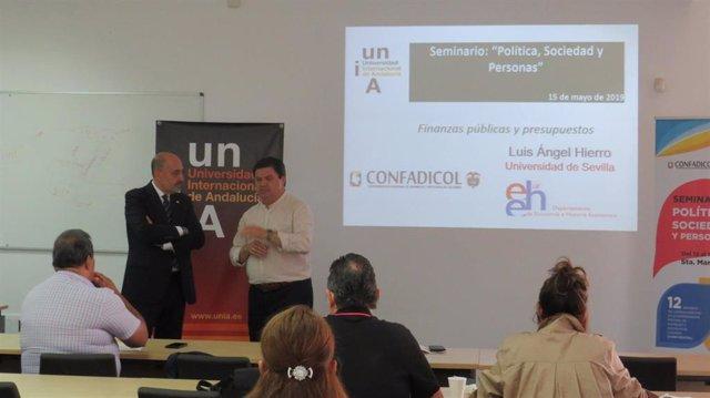 Huelva.- El seminario 'Políticas, Sociedad y Personas' de la UNIA aborda finanzas públicas y presupuestos en La Rábida