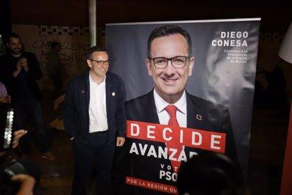 """Conesa: """"Cs está anunciando un futuro pacto con PP y Vox en la Región de Murcia al cerrar la puerta al PSOE"""""""
