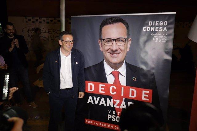 """26M.- Conesa (PSOE) advierte que ahora """"es el momento de decidir"""" y después de 28 años """"comienza el cambio"""""""