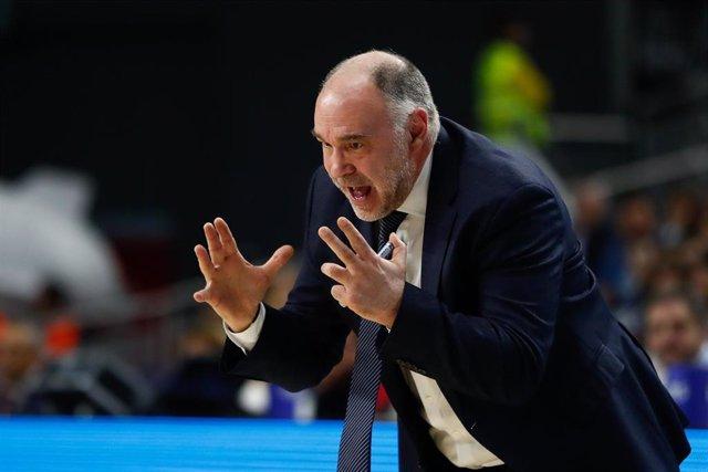 """Baloncesto/Euroliga.- Laso: """"Parte del éxito es el ambiente del Palacio"""""""