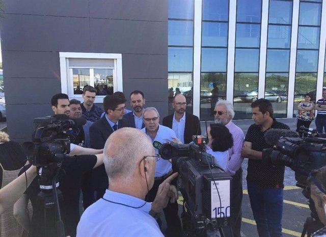 """Huelva.- Agricultores del Condado agradecen a Marín su """"apoyo"""" a la modificación del Plan de la Corona Norte de Doñana"""