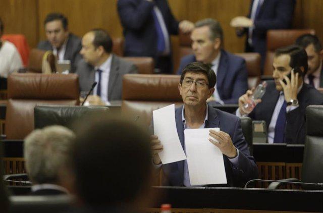 Segunda jornada del Pleno del Parlamento andaluz