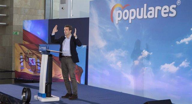 Pablo Casado clausura un acto del PP de La Rioja