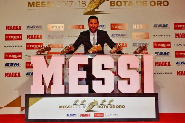 Messi rep la seva cinquena Bota d'Or