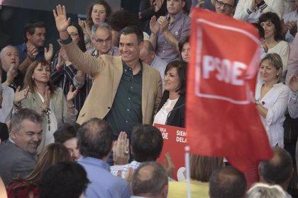 """Sánchez asegura que """"ni una, ni dos ni tres siglas de la derecha frenarán el avance que iniciamos el 28A"""""""