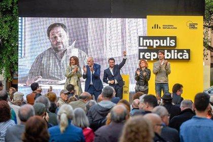 """Pere Aragonès: """"Lo que es una aberración democrática es tener presos políticos y en el exilio"""""""