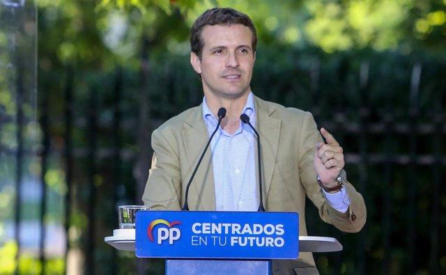 Acto electoral de Casado y Ayuso en Aranjuez