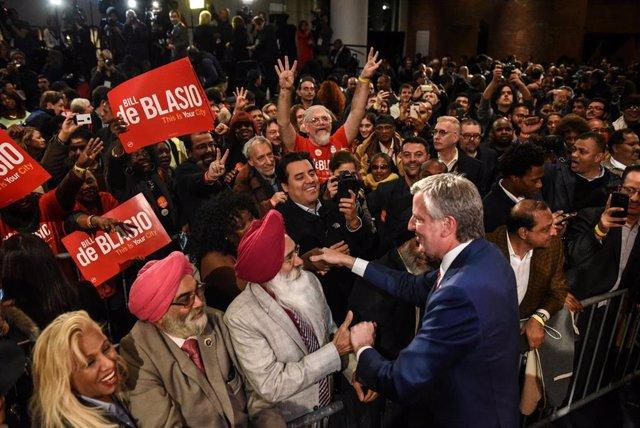 EEUU.- El alcalde de Nueva York, Bill de Blasio, anuncia su candidatura a la Pre