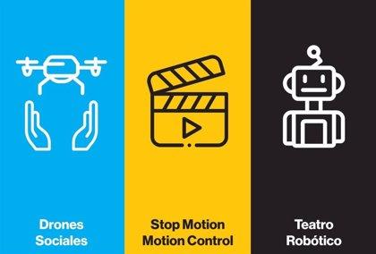 Drones sociales, animación y robots humanoides se dan cita en un evento educativo con 1.000 estudiantes