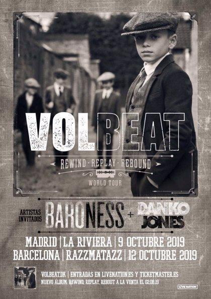 Volbeat presentará nuevo disco en Madrid y Barcelona con Baroness y Danko Jones como invitados
