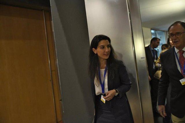 La candidata de Vox a la Presidencia de la Comunidad de Madrid, Rocío Monasterio, participa en el acto 'Día Internacional de las Familias'