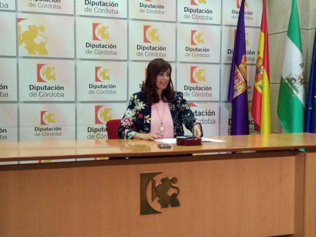 La delegada de Bienestar Social de la Diputación de Córdoba, Felisa Cañete