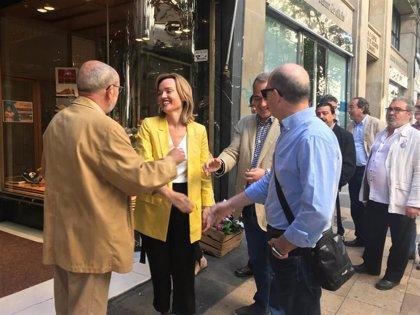 Alegría (PSOE) propone crear un área de mejora de los comercios y ayudarles en su estrategia de negocio