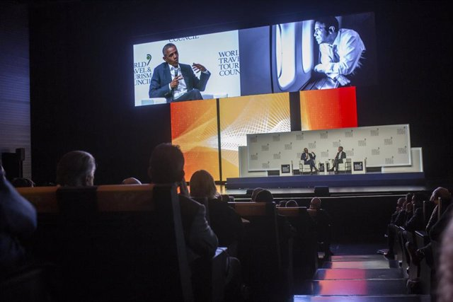 El expresidente estadounidense Barack Obama interviene en Congreso Mundial de Turismo WTTC.