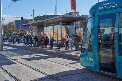 El tranvía sólo operará hasta la parada 'Teatro Guimerá' durante la Binter NightRun de Santa Cruz