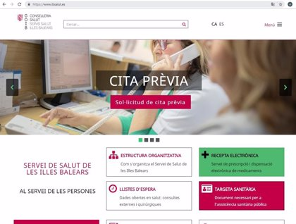 La nova web de l'IbSalut, que comença a funcionar aquest dijous, permetrà accedir a les llistes d'espera