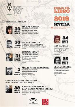 Sevilla.- El Centro Andaluz de las Letras dedica su programación en la Feria del Libro a la literatura y los viajes