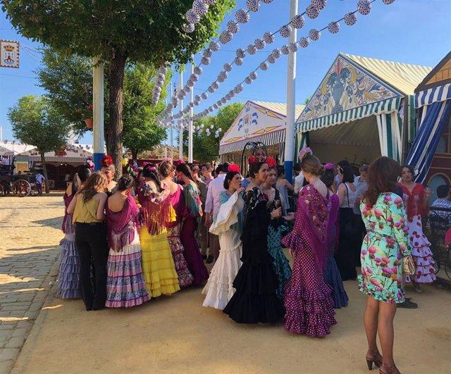 Sevilla.- Ayuntamiento de Alcalá ultima el montaje del real de la Feria 2019, que este sábado acoge el pregón