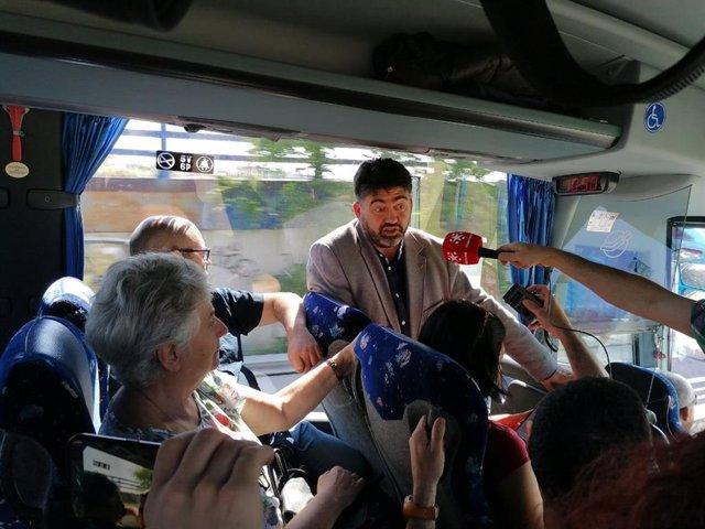 26M.- El 'Bus De Las Necesidades' De Madrid En Pie Municipalista Recorre Sus Ejes Programáticos