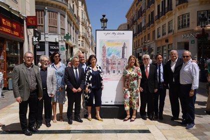 La calle Larios se convierte en una galería de arte para acoger la obra de Rafael Pérez Estrada