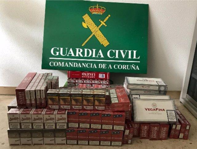 Intervenidas 410 cajetillas de tabaco valoradas en 2.000 euros en A Coruña
