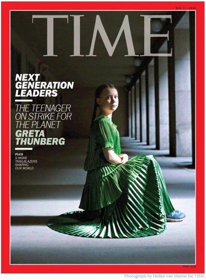 """Greta Thunberg, portada de la revista Time, que la define como """"líder de la futura generación"""""""