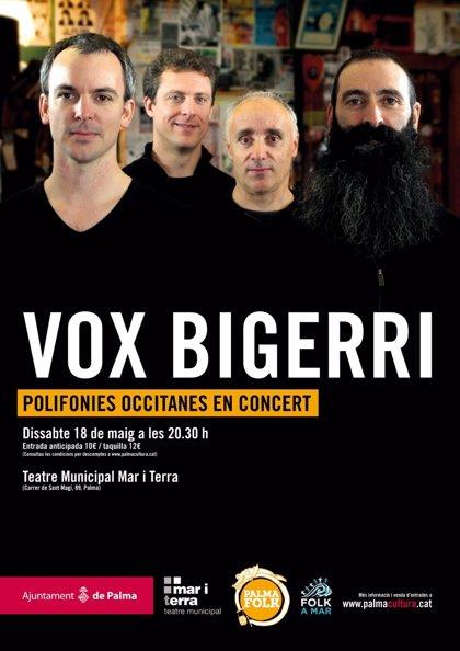 Vox Bigerri ofrece un concierto y un taller de canto polifónico este fin de semana como parte del PalmaFolk