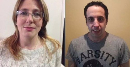 Los candidatos de Podemos Laredo Rocio Pérez Trueba y Jacob San Emeterio