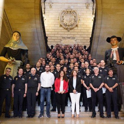 Un total de 96 agents de policia interins de Palma passen a ser policies en pràctiques per estabilitzar la seva situació