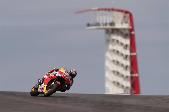 """Motociclismo/GP L.Américas.- Márquez: """"Es importante otra pole, ha sido un día raro"""""""