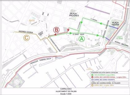 Cort inicia aquest dilluns la senyalització del nou carril bici que connectarà la xarxa ciclista amb la zona de Ponent