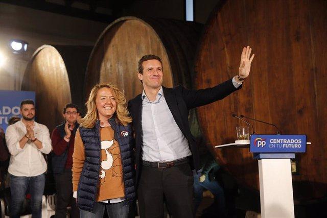 Acto político 'La Asturias próspera de oportunidades' con candidatos del Partido Popular celebrado en el Llagar Castañón (Asturias)
