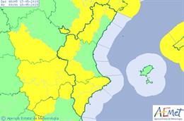 La Comunitat Valenciana está en aviso por fuertes vientos que pueden alcanzar los 80 km/h